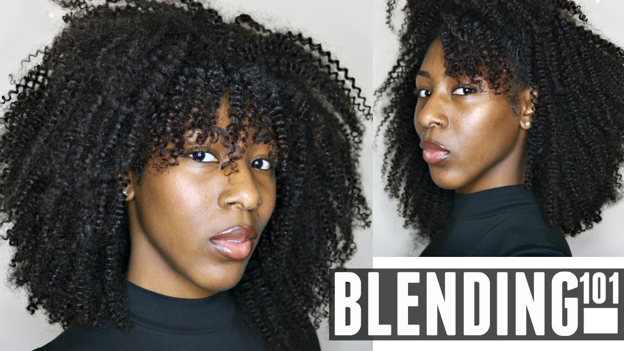 Flawlessly Blend Your Natural Hair W Curly Weave Hergivenhair